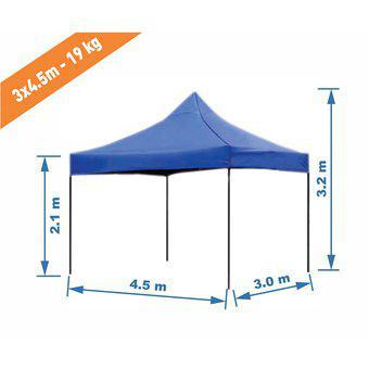 Toldo 3x4.5 M Plegable Impermeable Para Exterior 19kgs(L)