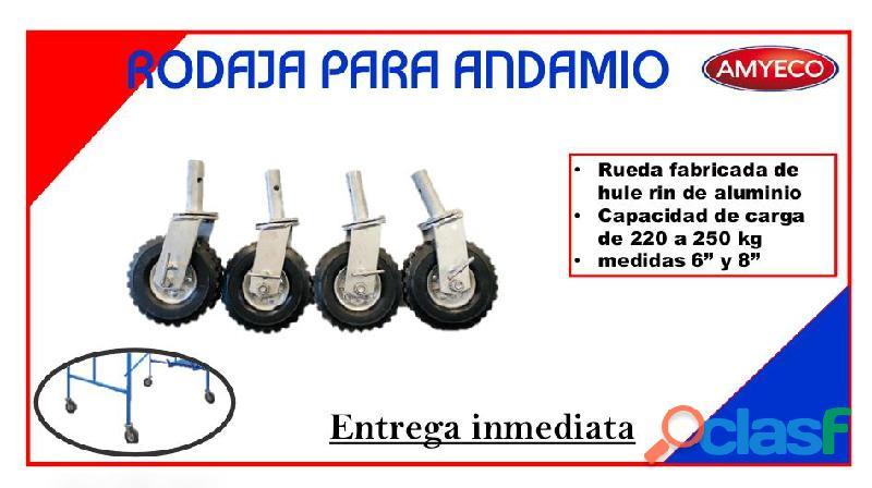 Rodaja para Andamio con freno de seguridad
