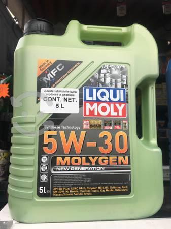 Aceite sintético molygen 5w30 liqui moly 5lts
