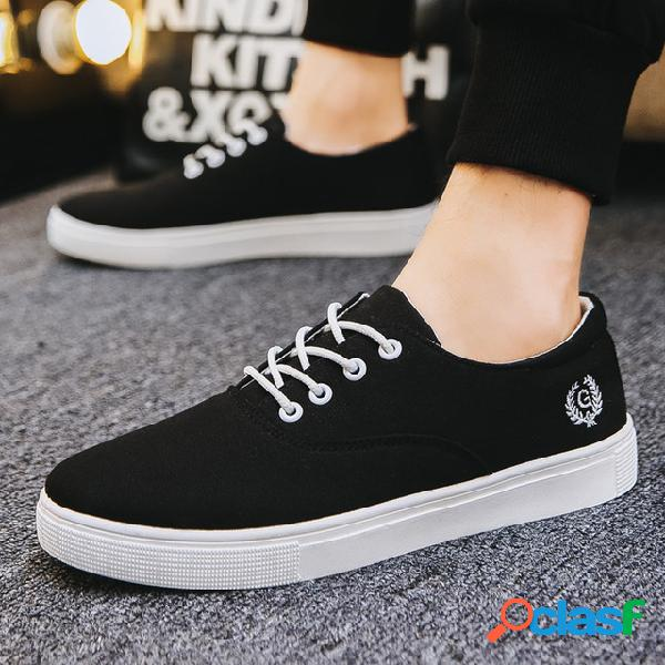 Temporada calzado de hombre calzado casual de hombre calzado de marea de hombre youth calzado transpirable zapatos de lona para estudiantes