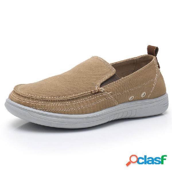Zapatos planos casuales de lona de estilo antiguo de pekín para hombres