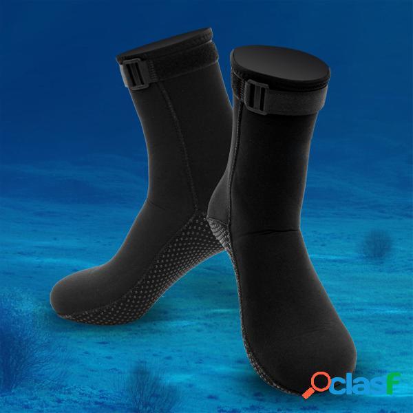 Hombres mujer 3mm neopreno calcetines al aire libre calcetín de buceo deportivo