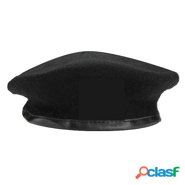 Hombres mujer militar soldier army sombrero gorro de gorrita tejida con gorro de lana maciza