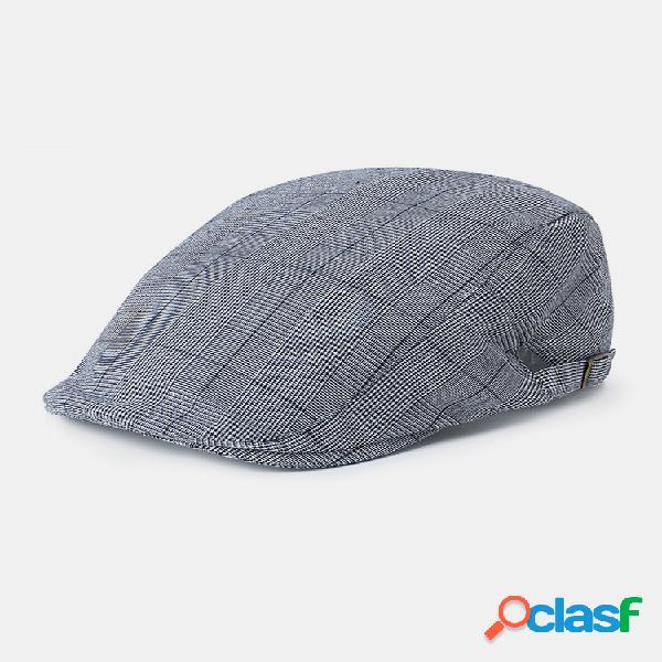 Hombres mujer gorra de boina retro de algodón sombrilla casual al aire libre gorra delantera con pico