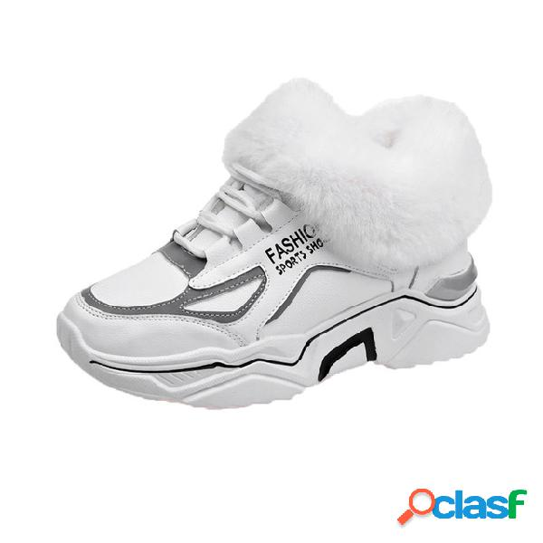 Mujer calzado deportivo casual de algodón
