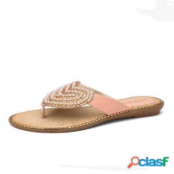 Mujer corazón zapatos planos decorativos con puntera con clip zapatillas
