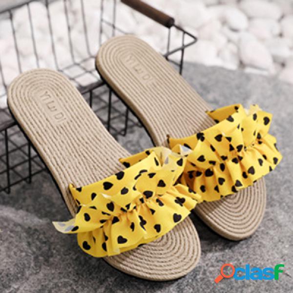 Mujer ropa love point banda decoración pisos zapatillas