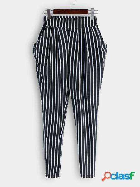 Pantalones con diseño de cintura alta pantalones con estilo de cintura alta