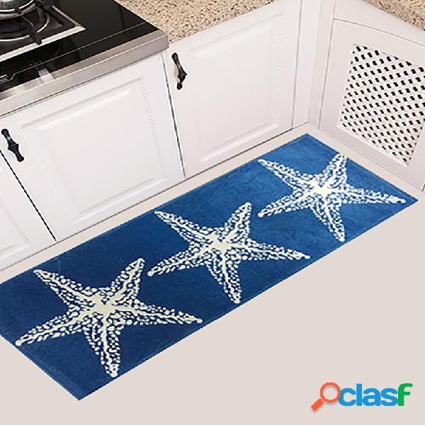 45x115cm estampado de estrellas antideslizante soft alfombra de franela para puerta alfombra para piso de cocina cuarto de baño alfombra