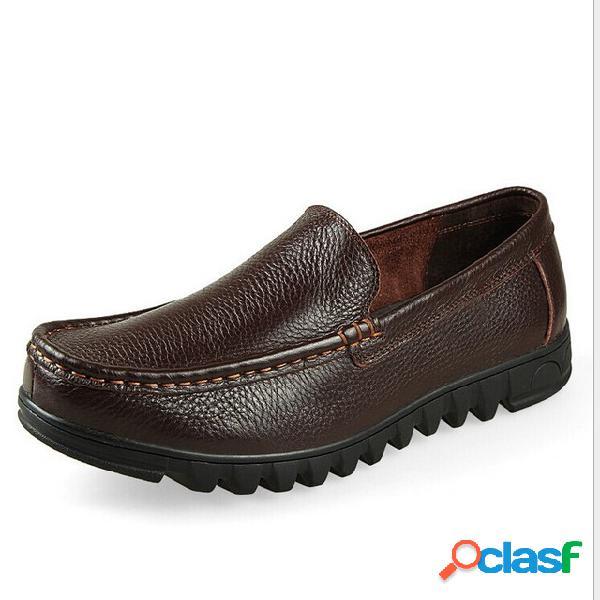 Hombres de negocios casual de gran tamaño antideslizante soft zapatos cómodos inferiores