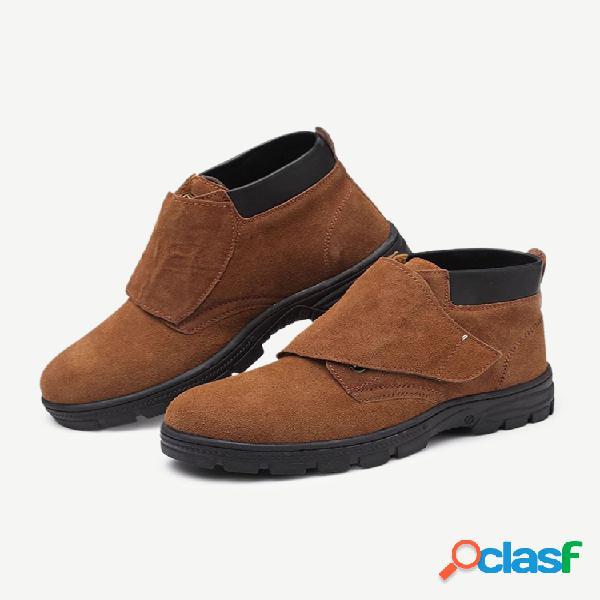 Plus talla antideslizante gancho falda corta con lazo y cordones botas