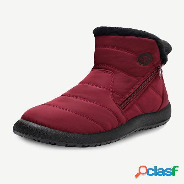 Plus talla mujer impermeable cálido soft antideslizante invierno botas