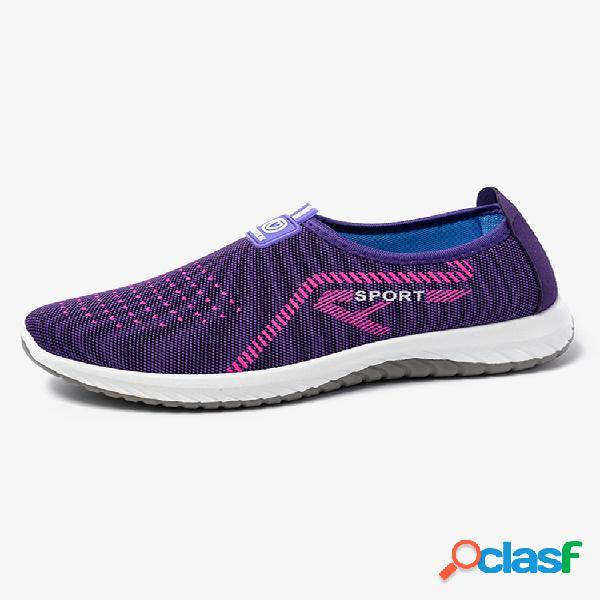 Mujer sports soft calzado informal ligero antideslizante de malla transpirable