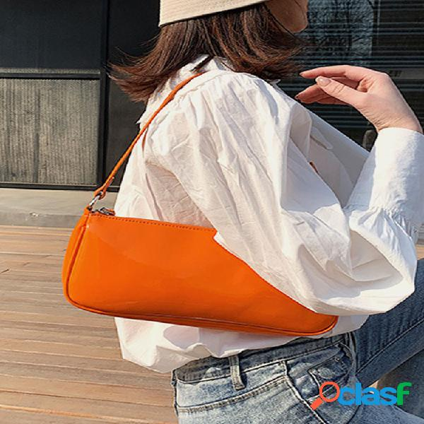 Mujer satchel pu satchel hombro bolsa
