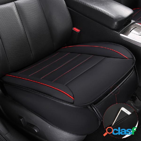 Universal coche funda de asiento cojín de cuero pu transpirable estera cojín para silla de vehículo 49x52cm