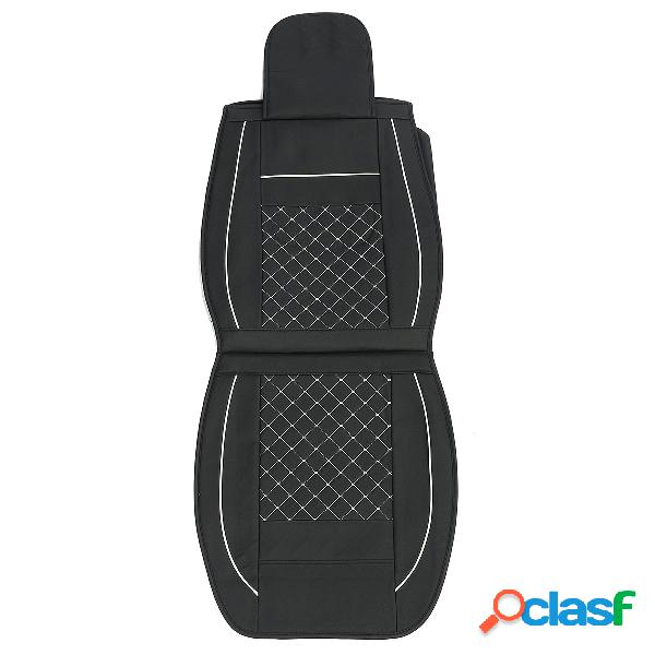 7pcs pu cuero coche juego de protectores de funda de cojín de asiento para 5 asientos coches negro blanco universal