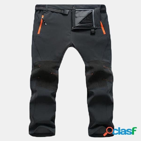 Pantalones deportivos impermeables de secado rápido para hombres