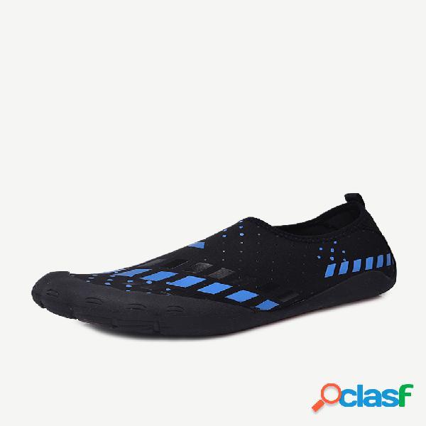 Zapatos de agua para correr con esnórquel para correr de secado rápido y protección de dedos para hombres